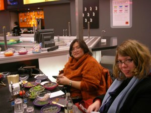 at Yo sushi with Zara