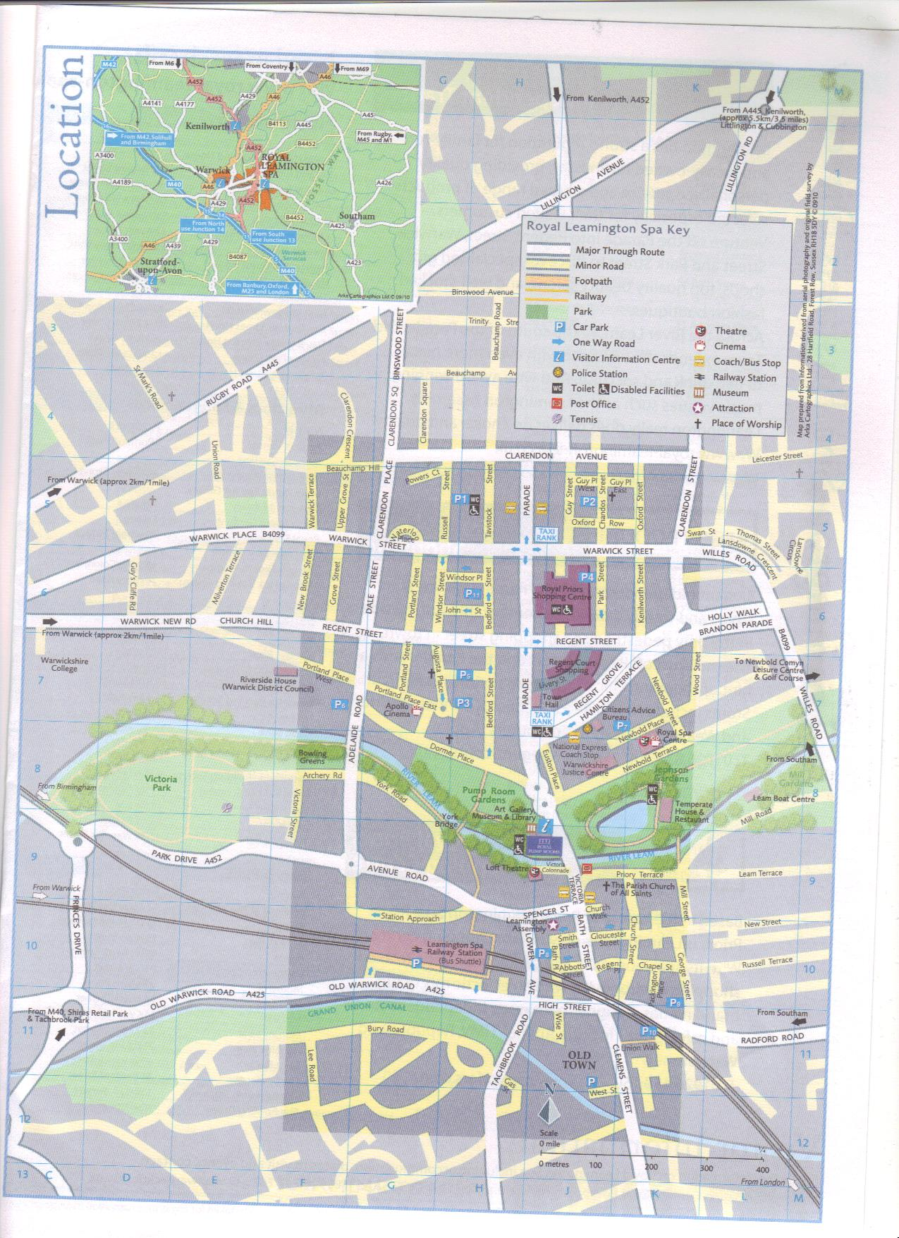 Map of Leamington Spa connect culture