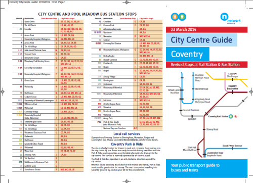 coventry revised busstops
